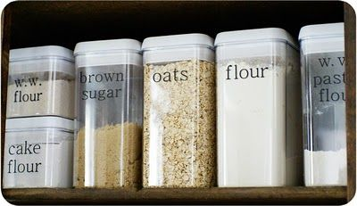 Baking supplies clearly labeled: Baking Organizations, Pantries Jars Labels, Organizations Cabinets, Baking Ingredients, Cabinets Spaces, Dreams Cupboards, Baking Cupboards, Organizations Baking, Cupboards Organizations I