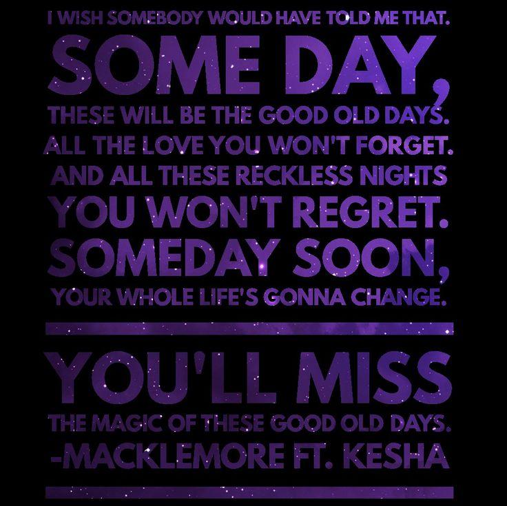 Macklemore • Good Old Days (feat. Kesha)