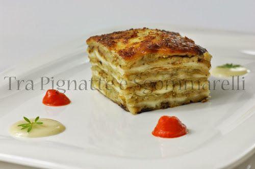 Le mie ricette - Parmigiana di Sardegna, con emulsione di peperone rosso e fonduta di pecorino sardo