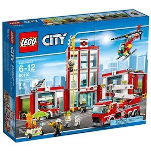 Lego City Fire Station 60110 Building Toy