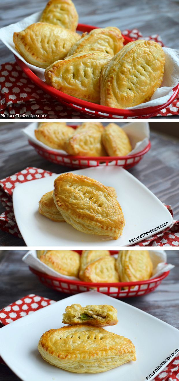 12 Amazing Super Bowl Recipes (Football shaped chicken puffs)