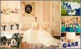 White blue wedding