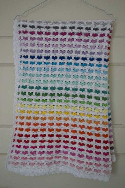 Hartjes regenboog babydeken | Candy-Addict.org