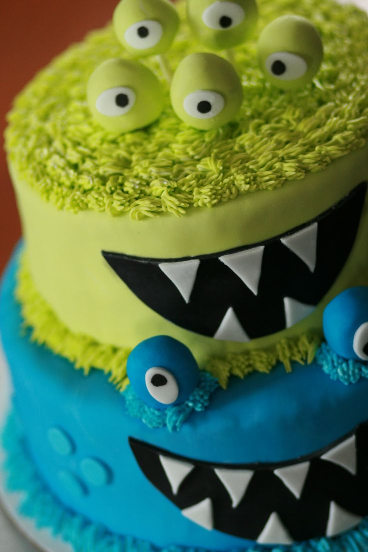 awesome monster cake.Birthday Parties, Monsters Parties, Cake Ideas, Monsters Cake, Awesome Monsters, 1St Birthday, Parties Ideas, Birthday Cake, Birthday Ideas