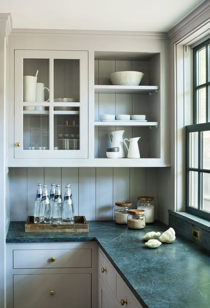 1000 images about kitchens on pinterest house tours stove and open shelving - Glass kitchen countertops pros and cons ...