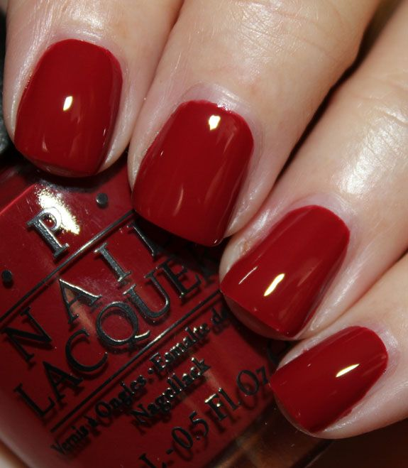 Nails Red: Best 25+ Opi Dark Red Ideas On Pinterest