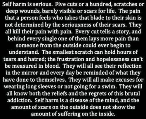 Cutting is sadness. Pay attention to your children.