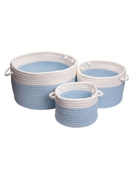 Dipped Chenille Round Baskets from Modern Nursery Furniture