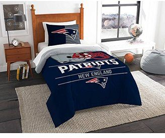 "NFL New England Patriots ""Draft"" Twin Bedding Comforter Set"