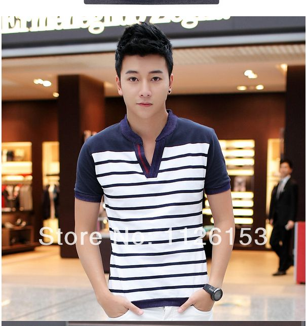 New 2016 men Striped T-Shirt / T Shirt / Tshirt Brand Summer Clothing Clothes For man Fashion Casual Short Sleeve Tops Tees 3XL
