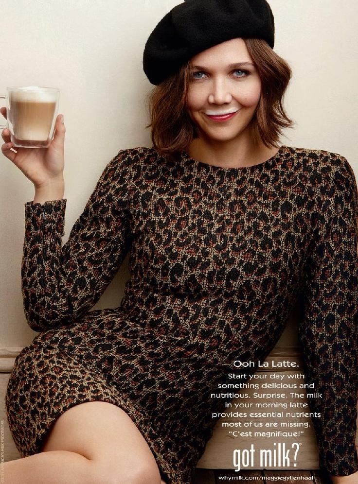 """Maggie Gyllenhaal in a """"got milk"""" campaigne.....   MAGGIE ... Maggie Gyllenhaal Diet"""
