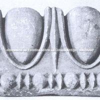 Priene, Templo de Atena. Fragmento de kymation jônico: Época helenística. (Paris, Museu do Louvre)