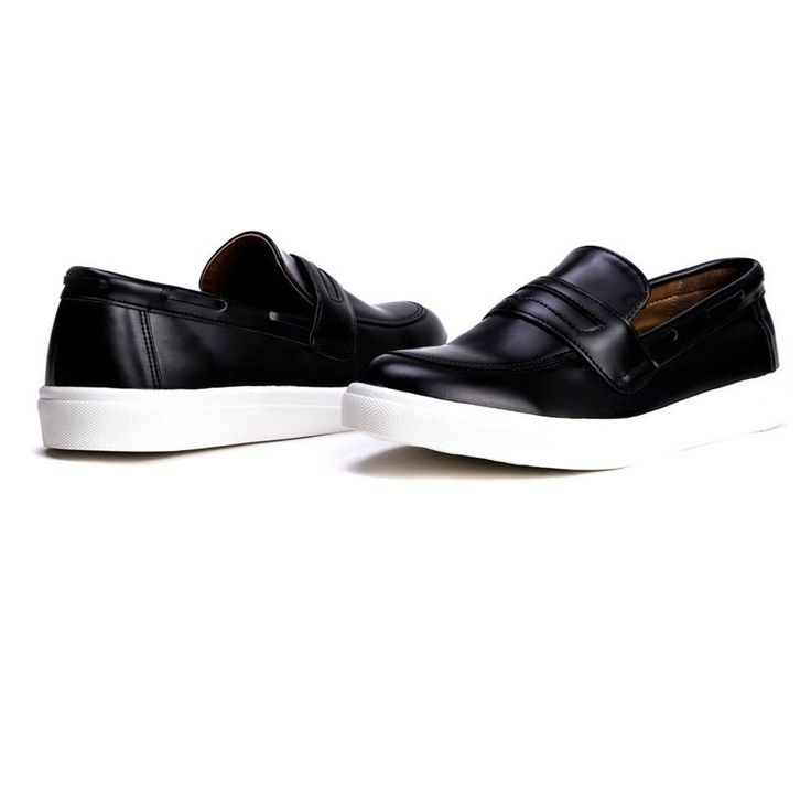 AYF Men's Fashion Shoes Boos Mid Height Slip On Leather Sneakers US Size 6,7,8,9 #BSQT #LoafersSlipOns