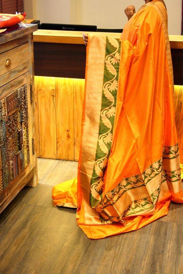 mango-yellow-kanjivaram-saree-with-kaddi-border