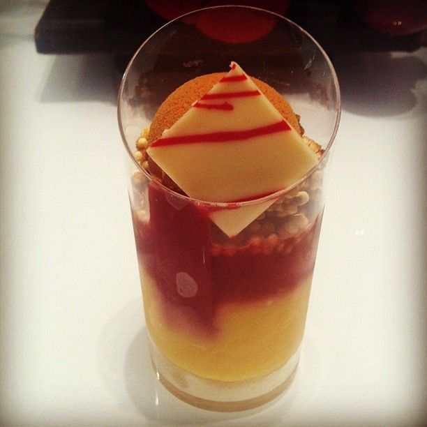New tube dessert: ginger baba, rhubarb, lemon, rooftop honey & quinoa crumble  http://www.burchandpurchese.com