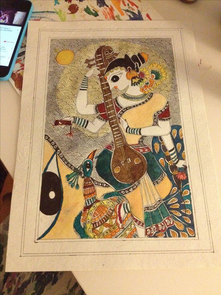 "Madhubani ""Maa Saraswati"" Artist 'Priyanka Bansal'"