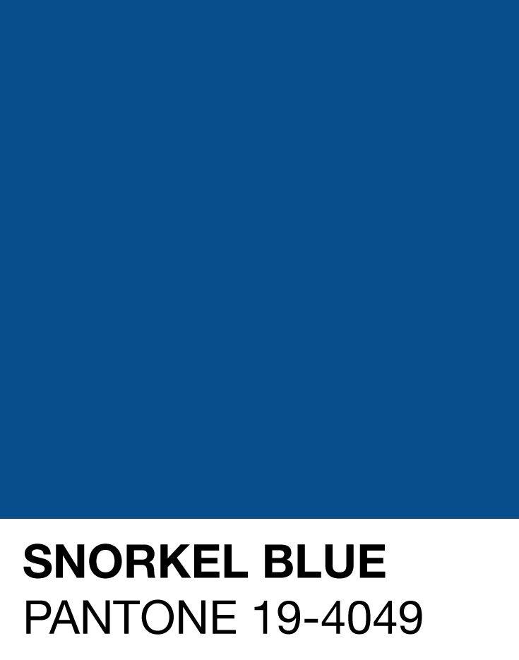 Snorkel Blue Pantone 19-4049 Spring/Summer 2016