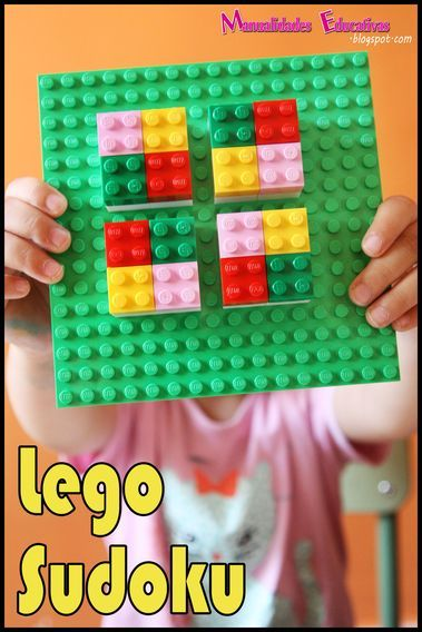Manualidades Educativas: Actividades Educativas con Lego: Sudoku Learning Activities with Lego: Lego Sudoku