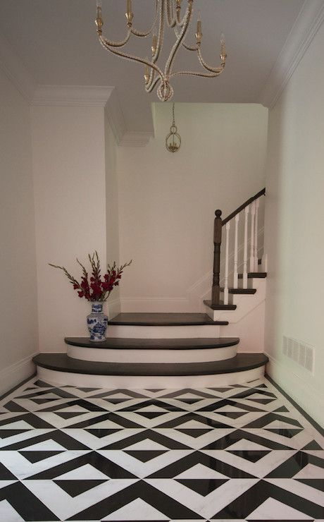 This beautiful foyer features a black and white geometric tiled floor under  a unique gorgeous beaded chandelier 74 best Ideas  Hallways   Entrances images on Pinterest  . Entrance Floor Tiles Design Images. Home Design Ideas