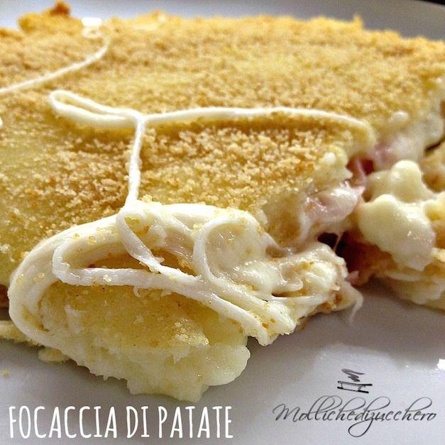#Focaccia di #patate #veloce - Molliche di zucchero