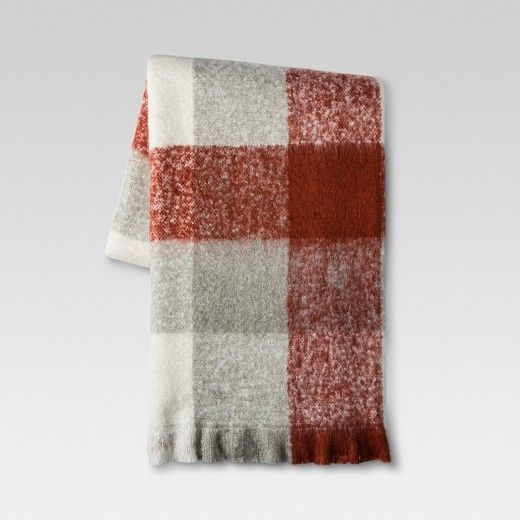 Add some rustic style with a twist to your couches and chairs with this Plaid Faux Mohair Throw Blanket from Threshold™. This incredibly comfy and cozy throw blanket features a versatile plaid pattern that will instantly make any chair or bed more warm and inviting. This plaid throw blanket channels rustic style that pairs perfectly with any room that has a contemporary motif.
