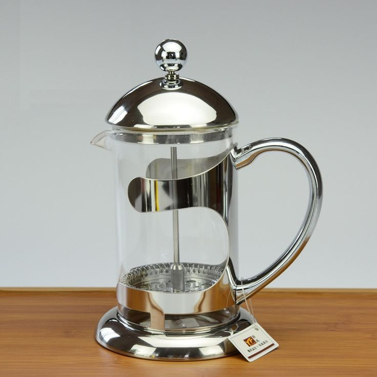 french press tea pot high temperature resistant glass teapot pressure pot of coffee pot stainless steel filter method