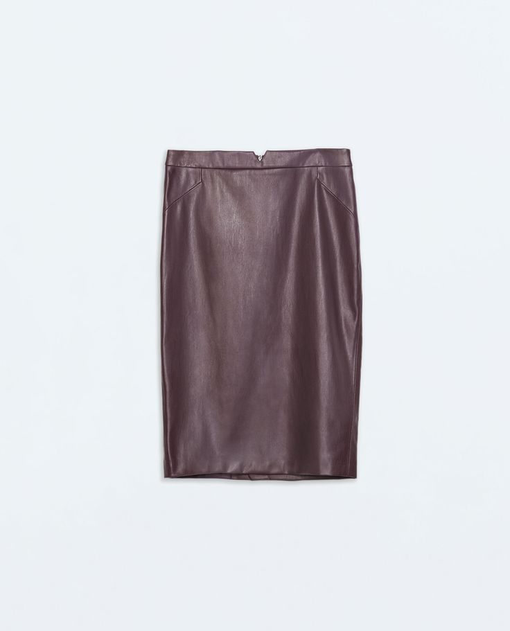 Image 5 of FAUX LEATHER SKIRT from Zara