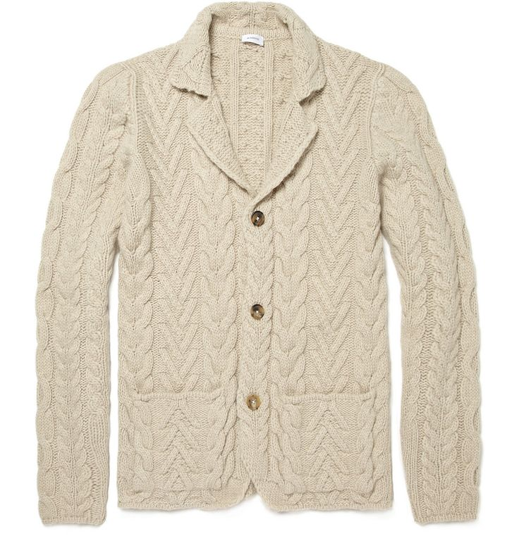 cabled men's jacket. jil sander