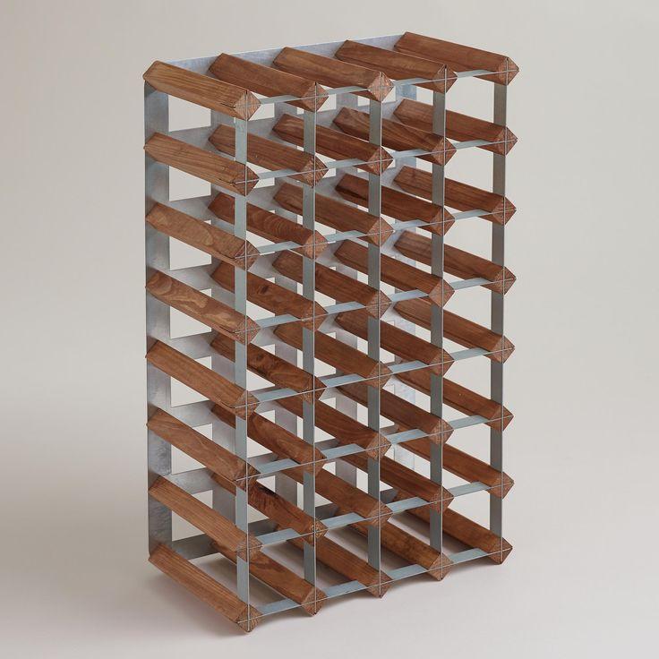 Wood & Metal Industrial Wine Rack | World Market