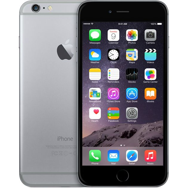 iPhone 6, 1 SIM, Android 4.2, 4.68 дюйма, 1.3 ГГц, 4 ядра, RAM 512 Мб, ROM 8 Гб, GPS, Wi-Fi, Bluetooth, черный