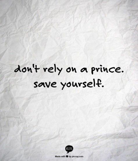 Save yourself!