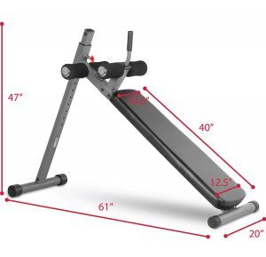 Best Home Ab Machine no. 1. XMark 12 Position Adjustable Decline Ab Bench XM-4416. One of the most common recommendations you hear from exercise experts when you ask about ab exercises, is to get an ab bench for your crunches, situps and other workouts.