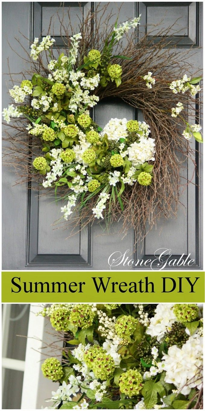 SUMMER WREATH DIY Step-by-step instructions and lots of wreath making tips.