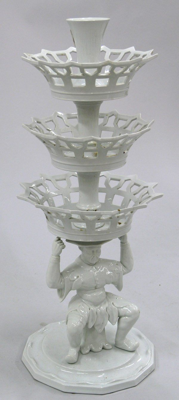 Portuguese porcelain blanc de chine style figural epergne, in the manner of Meissen larista :: Белый фарфор.17-20 век.