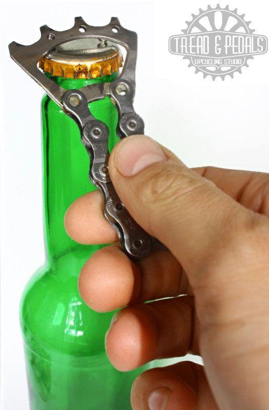 Rad Upcycled/Recycled Bike Bottle opener