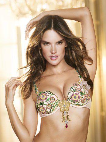 Victoria's Secret model Alessandra Ambrosia in the $2,500,000 Fantasy bra