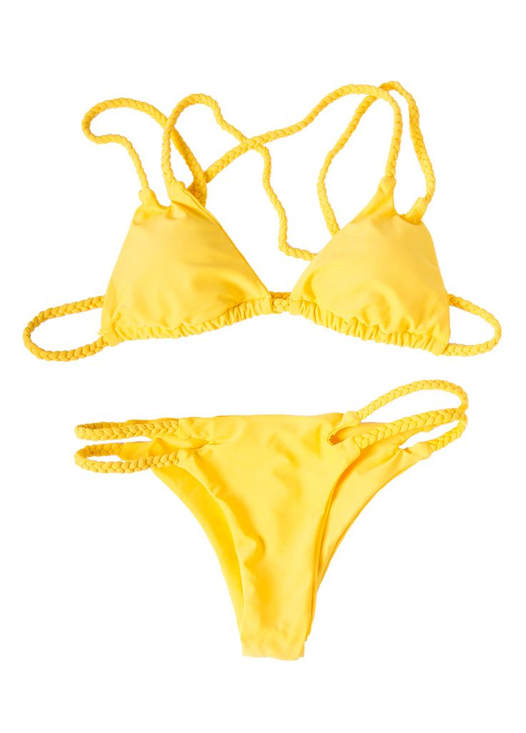 Shine as bright as the sun in this Pretty must have!Yellow colored bikiniBraided ...