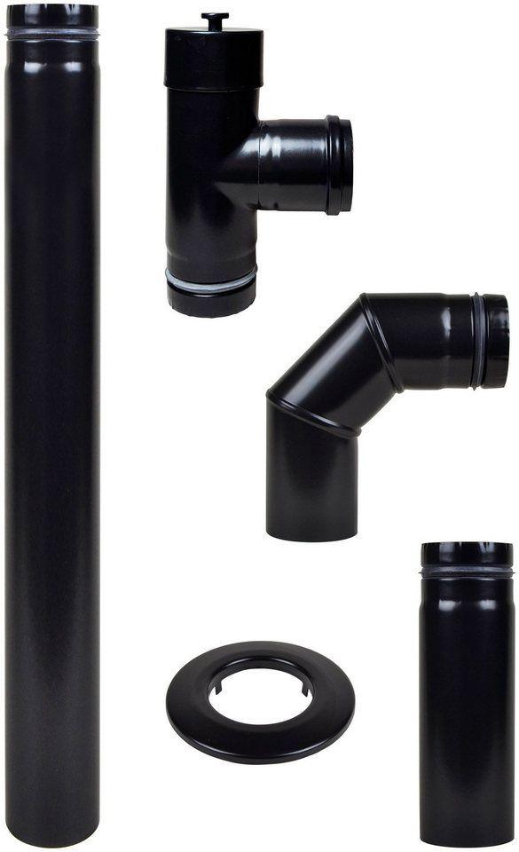 MULDENTHALER Rauchrohr-Set , Ø 80 mm, Ofenrohr für Pelletöfen für 79,99€. Ofenrohr-Anschlussset Pellet in Schwarz bei OTTO