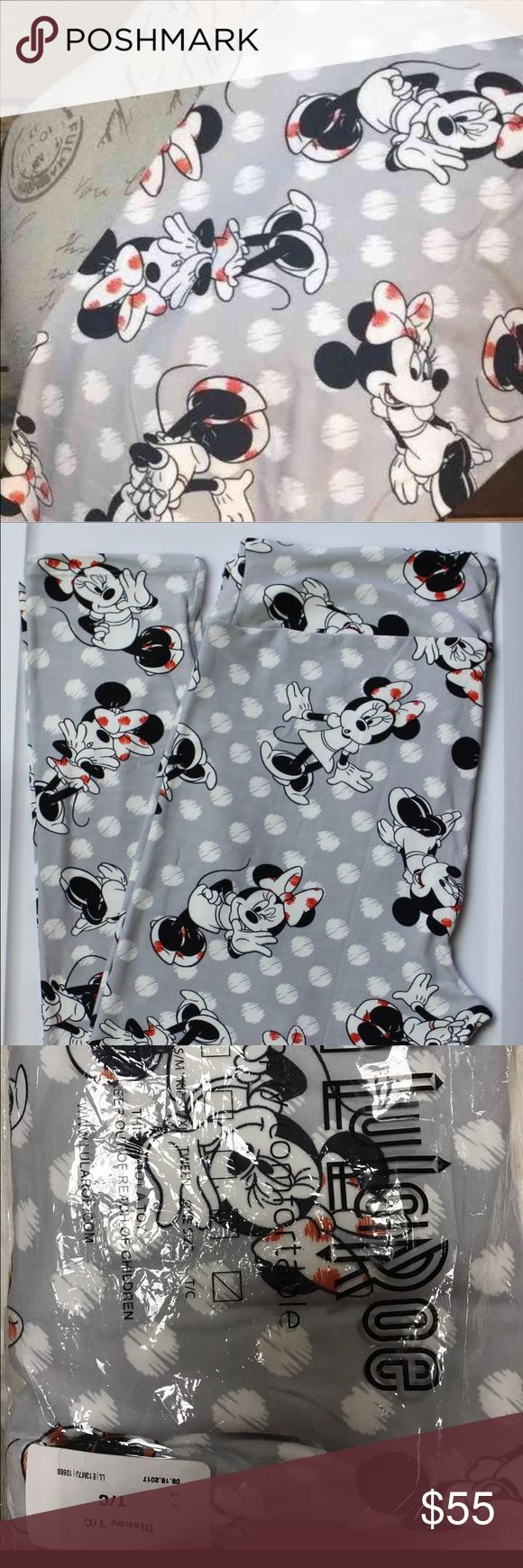 """LuLaRoe Disney Collection Minnie Mouse TC Brand new LuLaRoe Disney Collection Limited Print Minnie Mouse❣️ They are only releasing a limited amount of each character for a limited time. If you love Disney, you'll love these. They are so adorable & made with the buttery soft legging material LuLaRoe is known for! Size Tc (Tall & Curvy) fits sizes 12-22 listed as a """"14"""" to be in the plus size category. They do fit sizes 12-22, per Lularoe. Please keep in mind the Disney Collection is more…"""