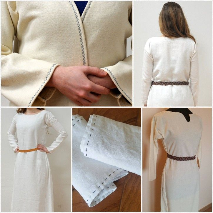 In Middle Ages most of the clothes were undyed. In my shop you'll find white tunics, undertunics, leg wraps and a wonderful coat