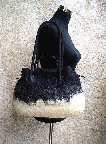 #wool felted bag |