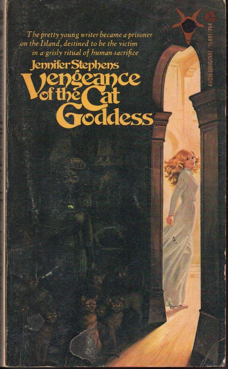 Vengeance of the Cat Goddess by Jennifer Stephens, an Avon Satanic Gothic