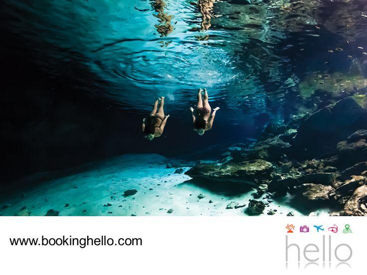 LGBT ALL INCLUSIVE AL CARIBE. Si vas a viajar al Caribe mexicano para disfrutar de los packs all inclusive de Booking Hello, te recomendamos visitar los cenotes, un atractivo natural que te dejará sorprendido. Estas formaciones naturales de agua cristalina guardan importantes leyendas de la cultura maya, quienes creían que estaban habitados por sus deidades. Aquí, tú y tu pareja podrán nadar o hacer buceo para apreciar todo su esplendor. #BeHello