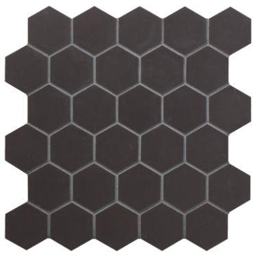 Black Hexagon Mosaic - Geometric - Wall & Floor Tiles | Fired Earth