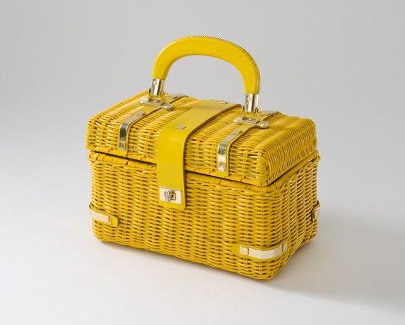Yellow Basket Handbag