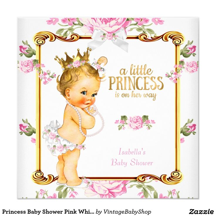 56 best baby images on pinterest | princesses, princess baby, Baby shower invitations