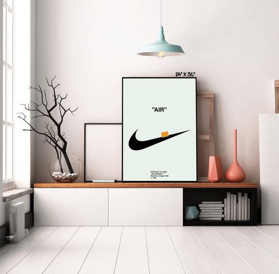 Off Wht X Swoosh Print Mdrnstudio Hypebeast Room Off White