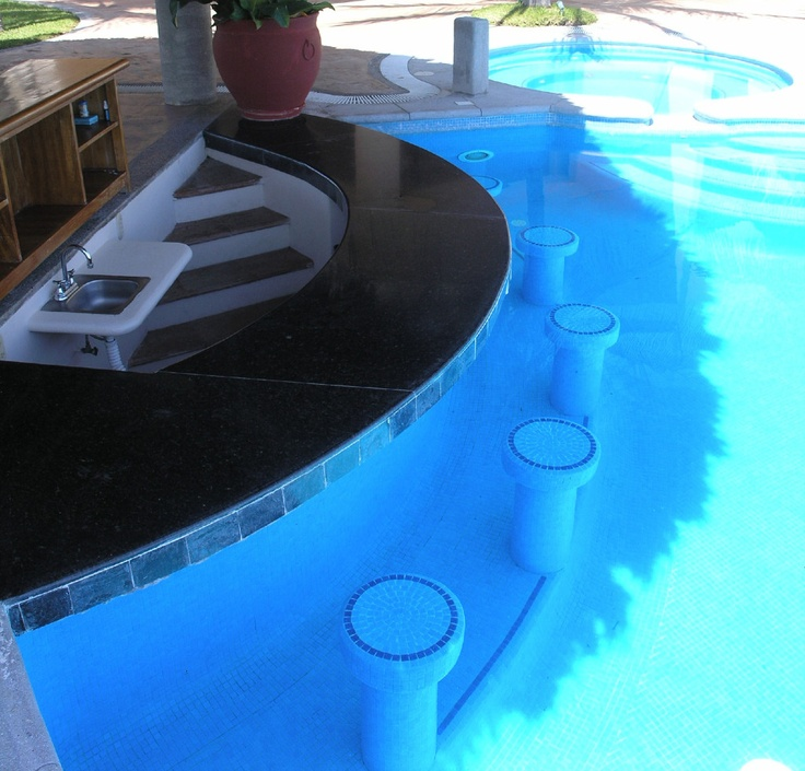 22 best swim up pool bars images on pinterest for Pool design with swim up bar
