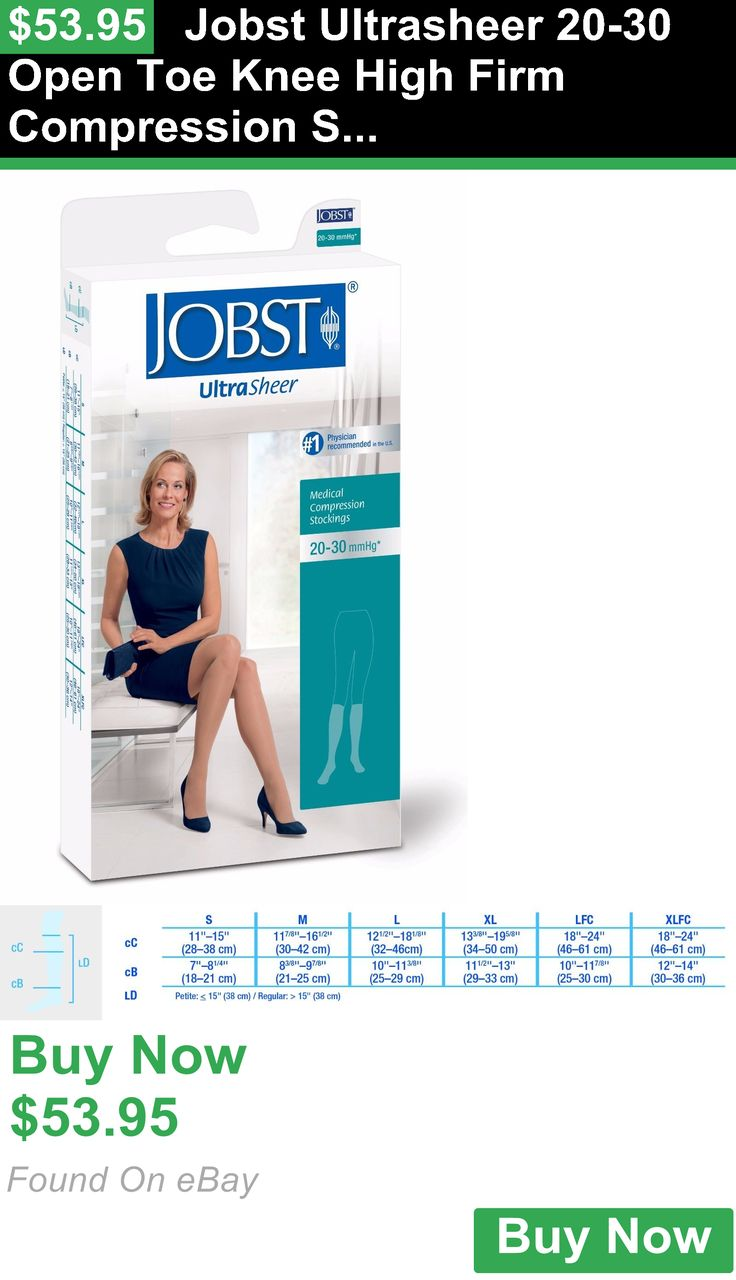 Compression Garments 182133: Jobst Ultrasheer 20-30 Open Toe Knee High Firm Compression Stockings BUY IT NOW ONLY: $53.95