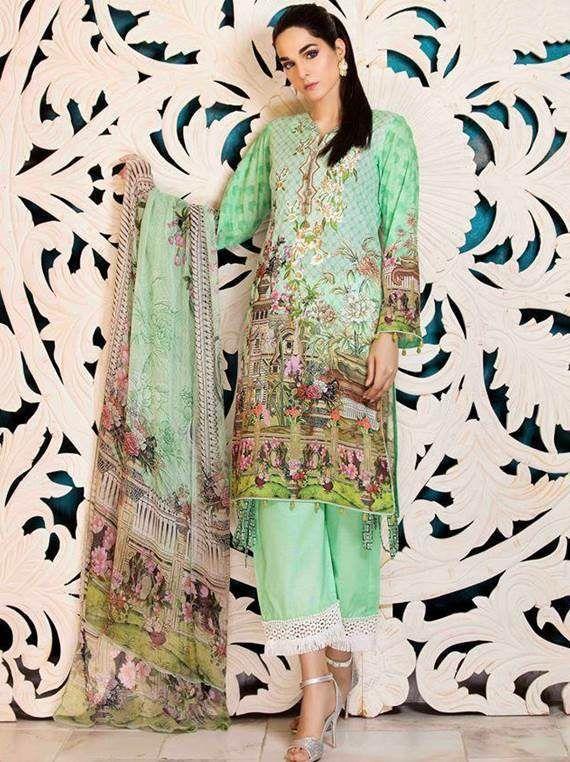 1991e87707 Sanoor Summer Collection 2018 Lawn Vol 1 (ZB 52 D-52) - Umar Poshak Mehal